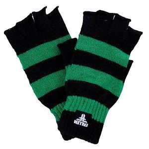 Перчатки женские  Hunter Strip Fingerless Kelly Green/Black Fallen. Цвет: черный,зеленый