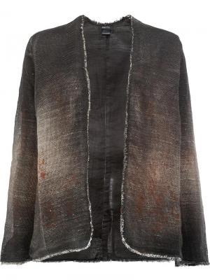 Приталенный пиджак Avant Toi. Цвет: коричневый