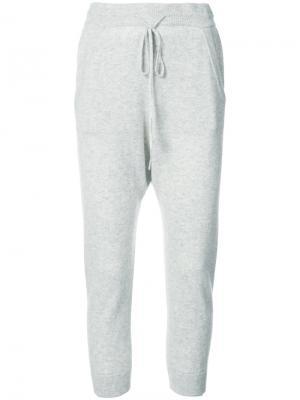 Укороченные спортивные брюки Nili Lotan. Цвет: серый
