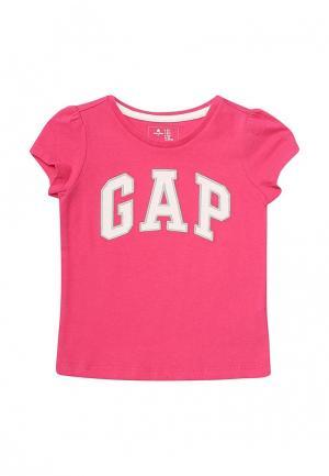 Футболка Gap. Цвет: фуксия