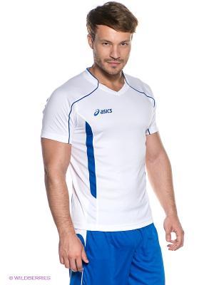 Футболка T-SHIRT VOLO ASICS. Цвет: белый, синий