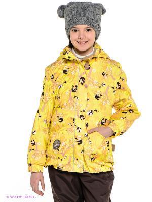 Куртка HUPPA. Цвет: желтый