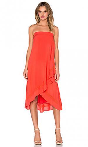Макси платье kaya Three of Something. Цвет: оранжевый