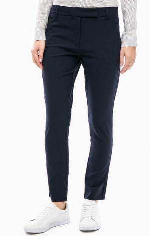 Укороченные синие брюки Lacoste. Цвет: синий