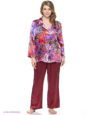 Пижама Del Fiore. Цвет: фиолетовый, бордовый