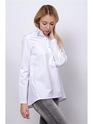 Блузка Mirella Sole. Цвет: белый