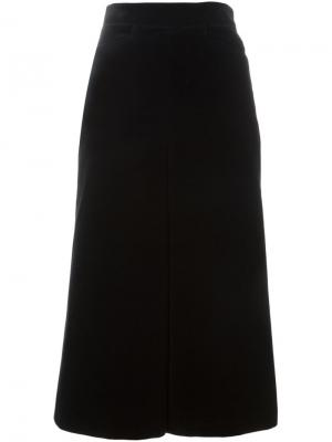 Велюровые брюки Saint Laurent. Цвет: чёрный