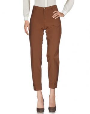 Повседневные брюки SANDRO FERRONE. Цвет: верблюжий