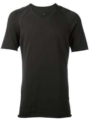 Однотонная футболка Label Under Construction. Цвет: серый