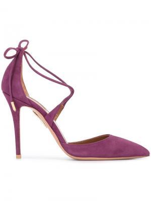 Туфли-лодочки Matilde 105 Aquazzura. Цвет: розовый и фиолетовый