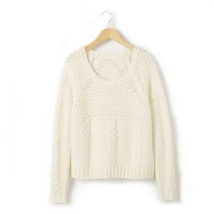 Пуловер R teens. Цвет: экрю