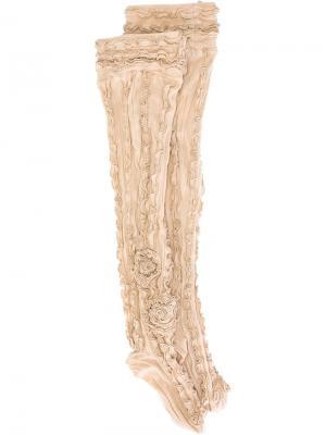 Носки с оборками Ryan Lo. Цвет: телесный