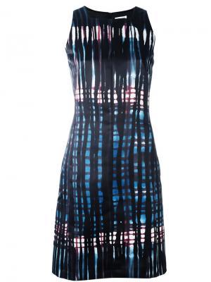 Платье с абстрактным узором Tomas Maier. Цвет: чёрный