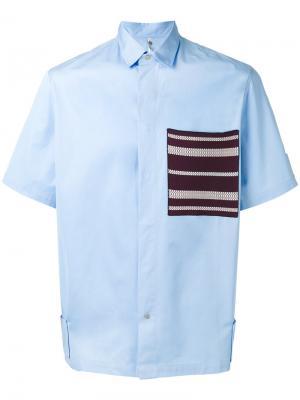 Рубашка с накладным карманом Oamc. Цвет: синий