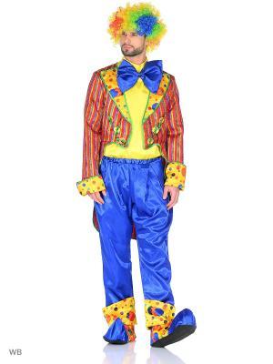 Карнавальный костюм Клоун Кеша красный Батик. Цвет: красный