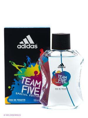 Туалетная вода adidas Team Five для мужчин 100 мл. Цвет: черный, синий