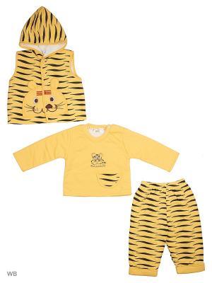 Жилет, джемпер, брюки Happy Bear. Цвет: желтый, черный