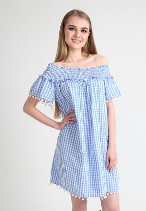 Платье Tailor Che. Цвет: голубой