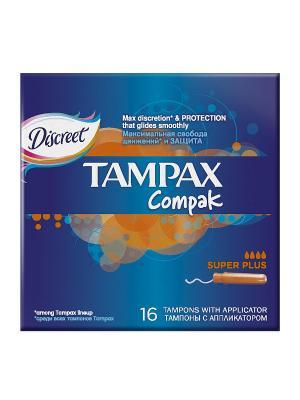 Гигиенические тампоны Compak Super Plus 16шт. TAMPAX. Цвет: темно-синий