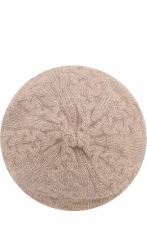 Кашемировый берет фактурной вязки TSUM Collection. Цвет: коричневый