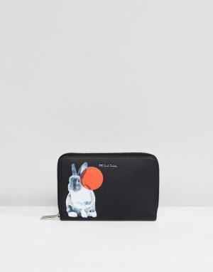 PS Paul Smith Кошелек на молнии с принтом кролика By. Цвет: черный