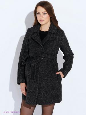 Пальто MammySize. Цвет: серый
