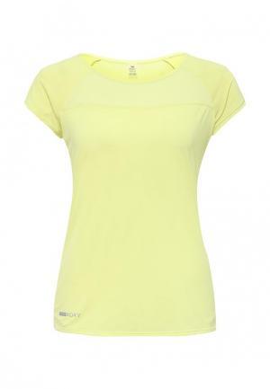 Футболка спортивная Roxy. Цвет: желтый