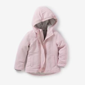 Парка с капюшоном на флисовой подкладке, 3-12 лет R édition. Цвет: светло-розовый,черный