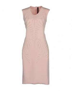 Платье до колена JEAN PIERRE BRAGANZA. Цвет: розовый