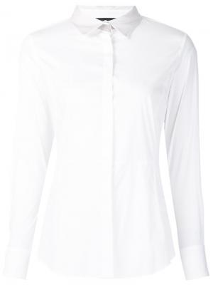 Рубашка с отделкой металлик Fabiana Filippi. Цвет: белый