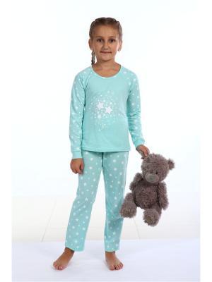 Пижама Pastilla. Цвет: бирюзовый