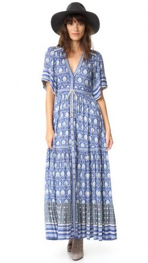 Макси-платье Oracle SPELL. Цвет: голубой