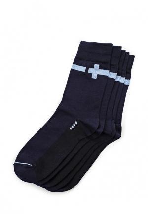 Комплект носков 5 пар John Jeniford. Цвет: синий