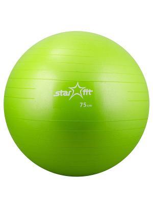 Мяч гимнастический STAR FIT GB-101 75 см, зеленый (антивзрыв) Starfit. Цвет: зеленый