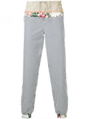 Спортивные брюки с контрастными деталями Kolor. Цвет: синий