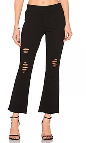 Укороченные расклешенные брюки Pam & Gela. Цвет: черный