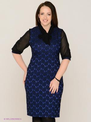 Платье MAFUERTA. Цвет: синий