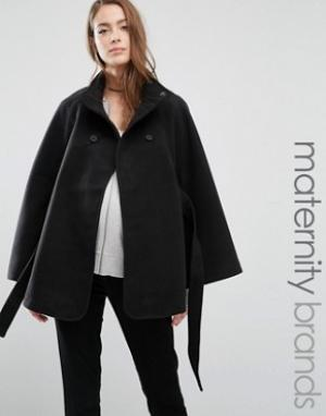 Mama.licious Пальто-накидка для беременных Mamalicious. Цвет: черный