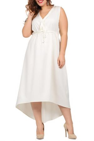 Платье VALERIA FRATTA. Цвет: белый