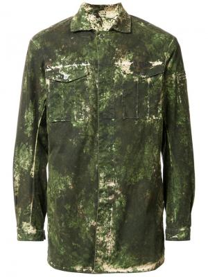 Куртка с камуфляжным принтом 11 By Boris Bidjan Saberi. Цвет: зелёный