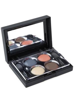 Тени для век КватроQuattro Eyeshadows 627, 2,4г NOUBA. Цвет: синий, бежевый, розовый, фиолетовый