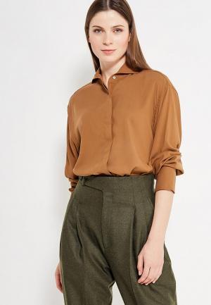 Рубашка Mango. Цвет: бежевый
