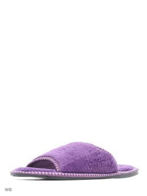 Тапочки Из Текстильных Материалов. BRIS. Цвет: фиолетовый