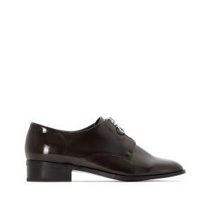 Ботинки-дерби на молнии спереди La Redoute Collections. Цвет: темно-серый