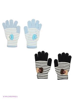Перчатки FOMAS. Цвет: светло-голубой, черный