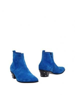 Полусапоги и высокие ботинки COSTUME NATIONAL HOMME. Цвет: ярко-синий