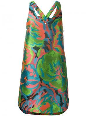 Жаккардовое платье Cristiano Burani. Цвет: многоцветный