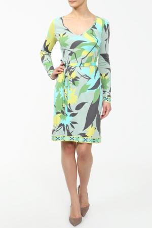 Платье Emilio Pucci. Цвет: желто-бирюзовый