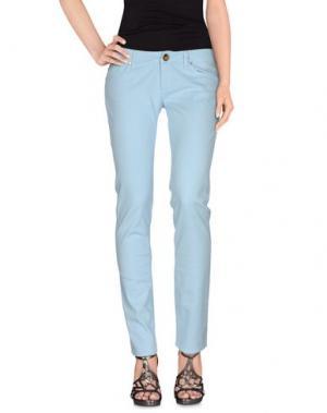 Джинсовые брюки ATELIER FIXDESIGN. Цвет: небесно-голубой