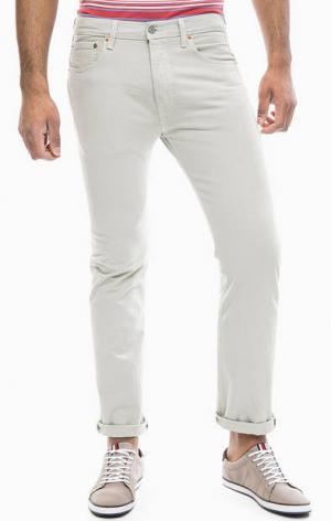 Зауженные брюки из денима 501® Original Fit Levi's®. Цвет: бежевый